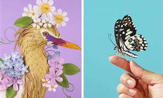 14 Brilliant Paper Sculptures of Dazzling Birds and Butterflies