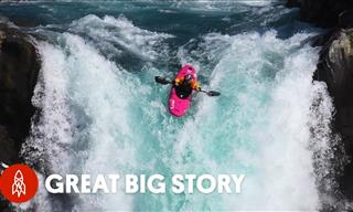 This Extreme Athlete Kayaks Down a 134-Foot Waterfall!