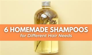 6 Homemade Shampoos For Various Hair Types and Conditions