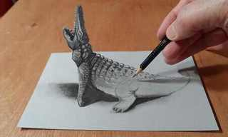 Incredible Three Dimensional Pencil Drawings