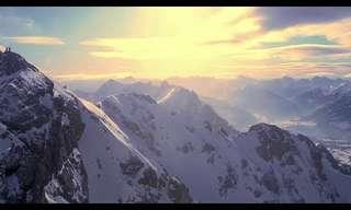 A Winter Waltz Over Snow Covered Austria...