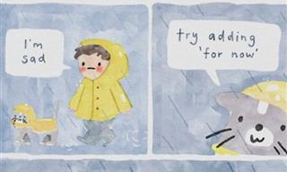 15 Watercolor Comics Offering Wholesome Advice