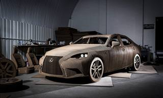 Lexus Origami Car is Made of Cardboard and Actually Runs!