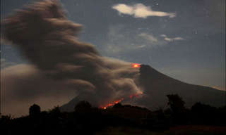 Witness the Violent Sinabung Volcano Eruption!