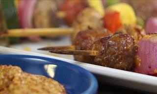 How to Make Tasty Beer and Mustard Sausage Skewers