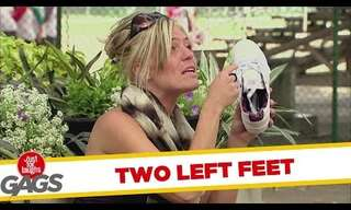She Has Two Left Feet - Funny Prank!