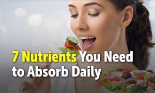7 Nutrients You Need to Absorb Daily