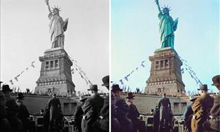 16 Incredible Historical Black and White Photos Colorized