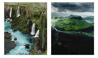 Iceland's Landscapes Look So Dreamy in These Aerial Shots