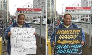 Signs for the Homeless - Lovely!