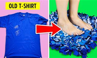 20 Excellent DIY Ideas Using Old T-Shirts
