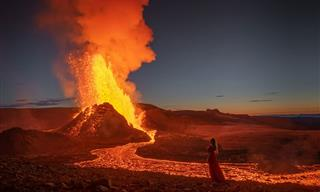The Magical Results of a Brave Photoshoot Near an Active Volcano