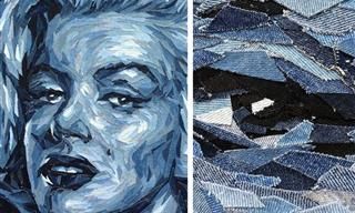 This Artist Uses Upcycled Denim to Create Lovely Portraits