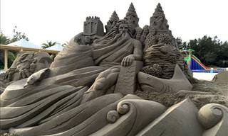 Fantastic Sand Sculptures by Toshihiko Hosaka