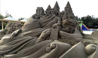 Fantastic Sand Sculptures by Toshihiko Hosaka