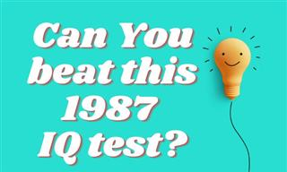 QUIZ: Can You Beat This 1987 IQ Test?