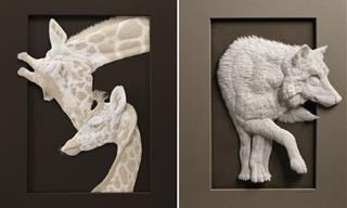 12 Spectacular Animal Sculptures Carved Out of Plain Paper