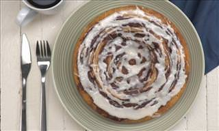 Brighten Your Day with This Delicious Cinnamon Roll Cake