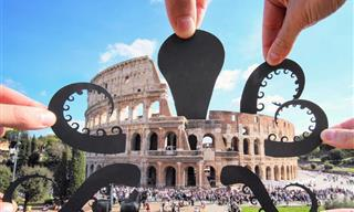 15 Paper Cutouts Photographed to Look Like a Part of the World