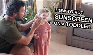 Hilarious - How to Put Sunscreen on a Toddler