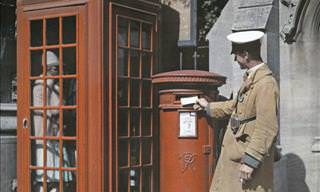 This Is Merry Old England in the 1920s, in Color!
