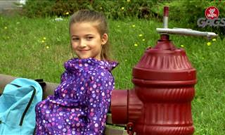 Hilarious Gag: Don't Mess With Girls and Hydrants...