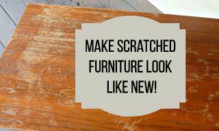 A Super-Easy Fix for Scratched Furniture