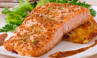Oven-Baked Salmon in Honey-Mustard Sauce