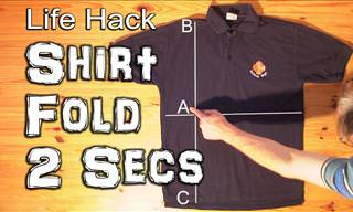 How to Fold a Shirt in 2 Seconds!
