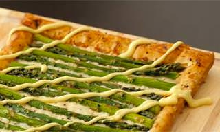 Try This Cheesy Asparagus Tart Recipe