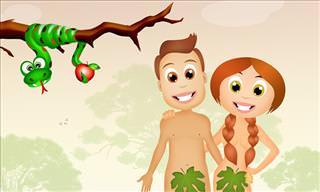 God, Adam, Eve, a Dog and a Cat