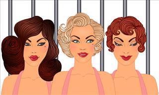 Blonde, Brunette & Redhead Escape From Prison