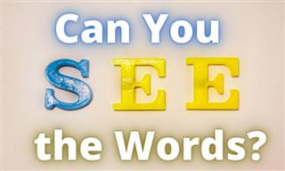 Can You See These Hidden <b>Words</b>?